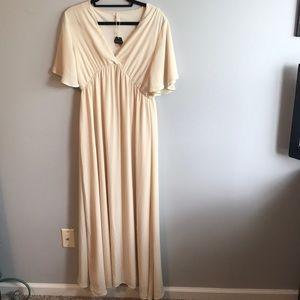 Pinkblush Dresses - NWT Pinkblush Ivory Maternity Maxi Dress Host Pick